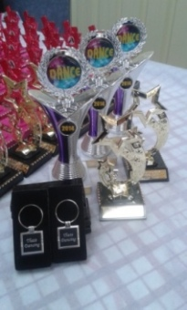 Dance Trophies and custom engraved keyrings