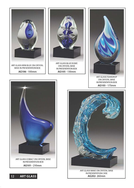 page 12 Coporate Catalogue, Glass Awards, Trophies